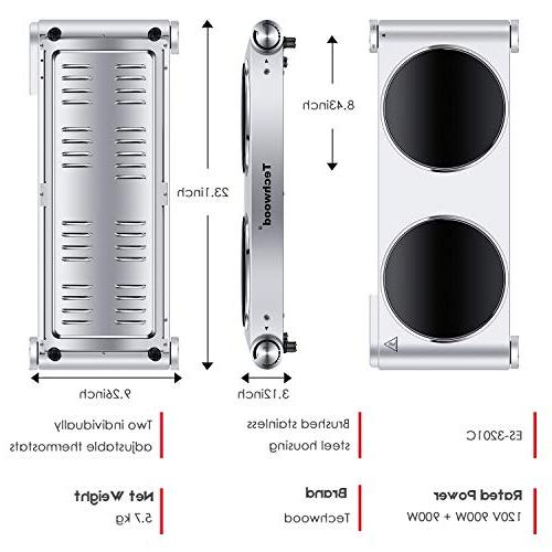 Techwood 1800 Burner, Cooktop Portable Hot Steel, ES-3201C
