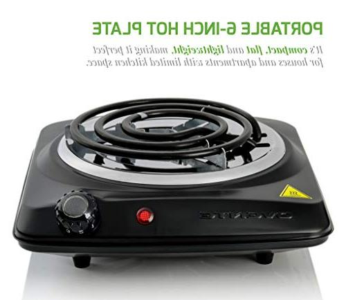 OVENTE Coil 1000W 6-Inch Control, Housing,