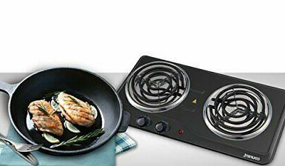 Courant Burner, Hotplate, Black Countertop Burner, Portable