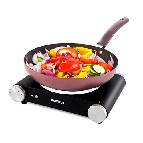 Cusimax 1500W Burner, Portable Plate, Black