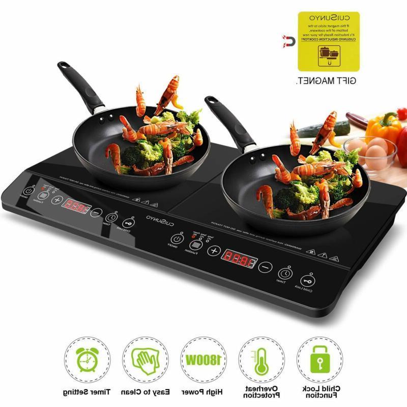 digital induction cooktop double countertop burner hot