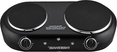 Electric Cooktop Burner 1800W Hot Plate Portable 2 Burners K