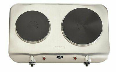Double Burner Hot Plate Cast Plate Portable Stove