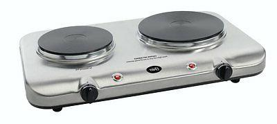 Double Burner Electric Hot Plate Commercial Cast Iron Plate