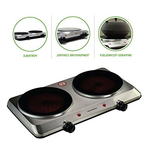double cooktop burner portable ceramic