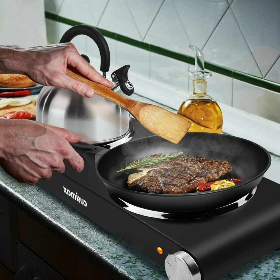 Double Cast Iron Cooktop,