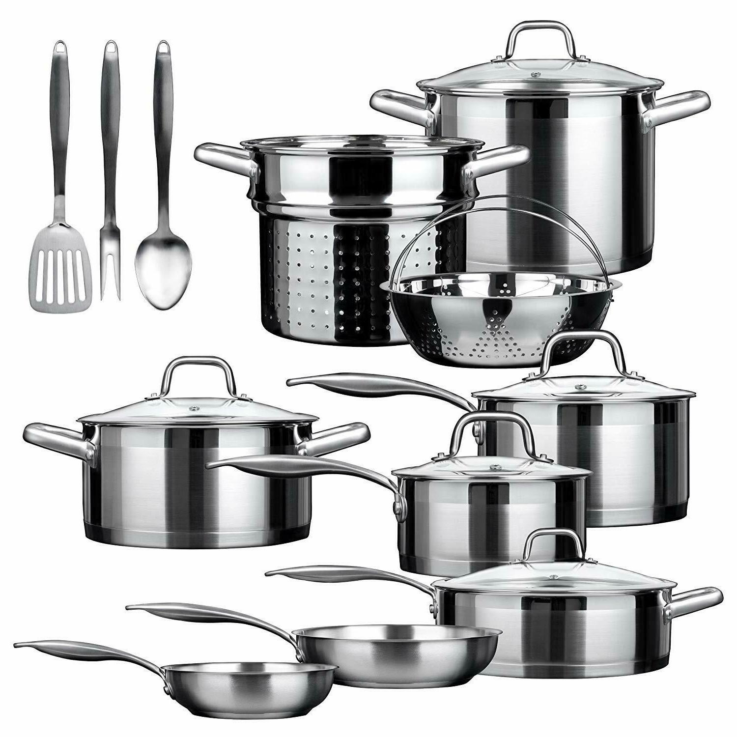 duxtop 17 piece stainless steel induction cookware
