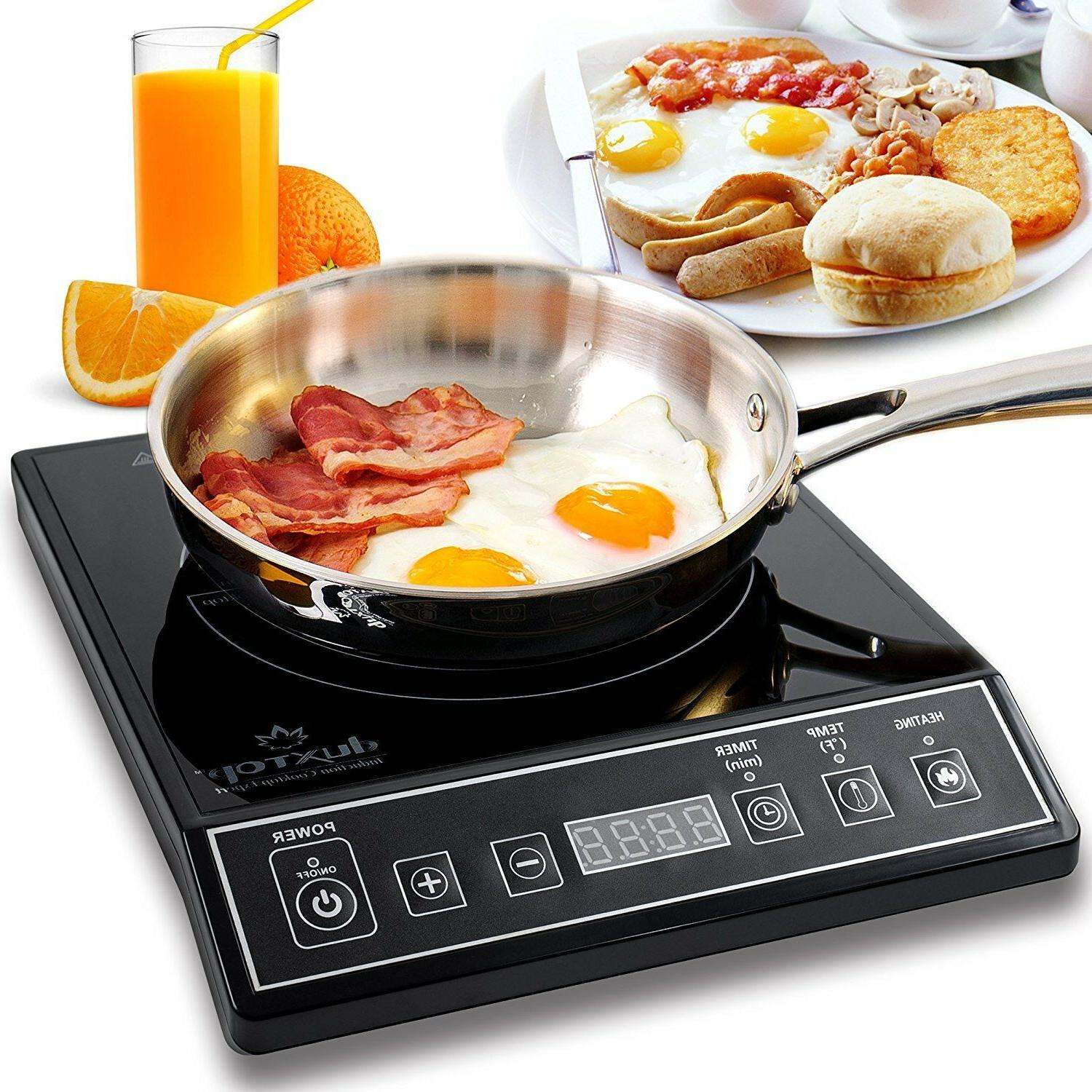 DuxTop Portable Induction Cooktop Countertop Burner, 1800-Wa