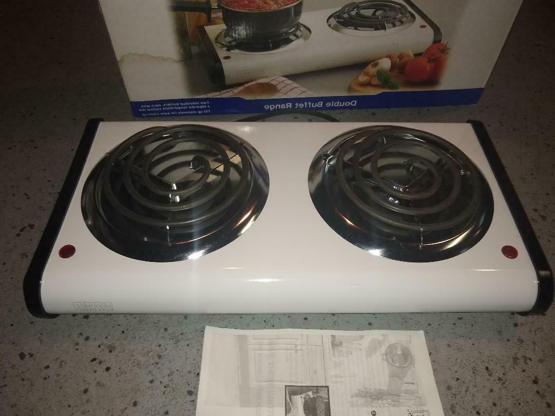 Electric 2 Range-Stove Top High Kitchen Plate Camping