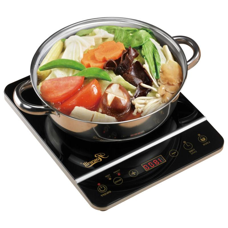 electric burner 1800w stainless steel pot included