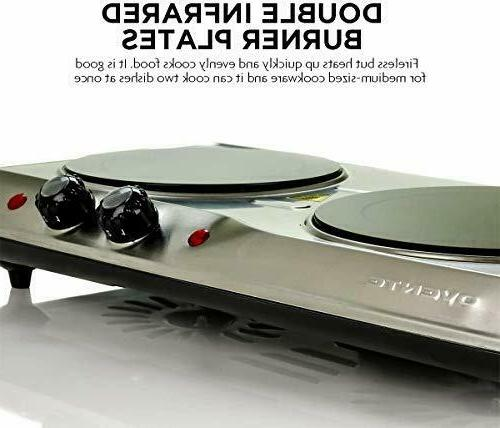 Electric Cooktop Ceramic Glass Hot 2 Cooking Stove