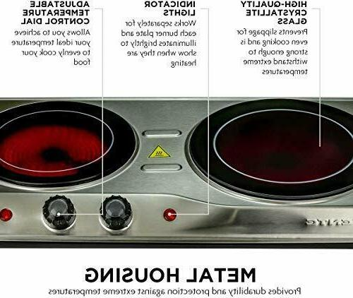Electric Ceramic Hot Plate 2 Cooking