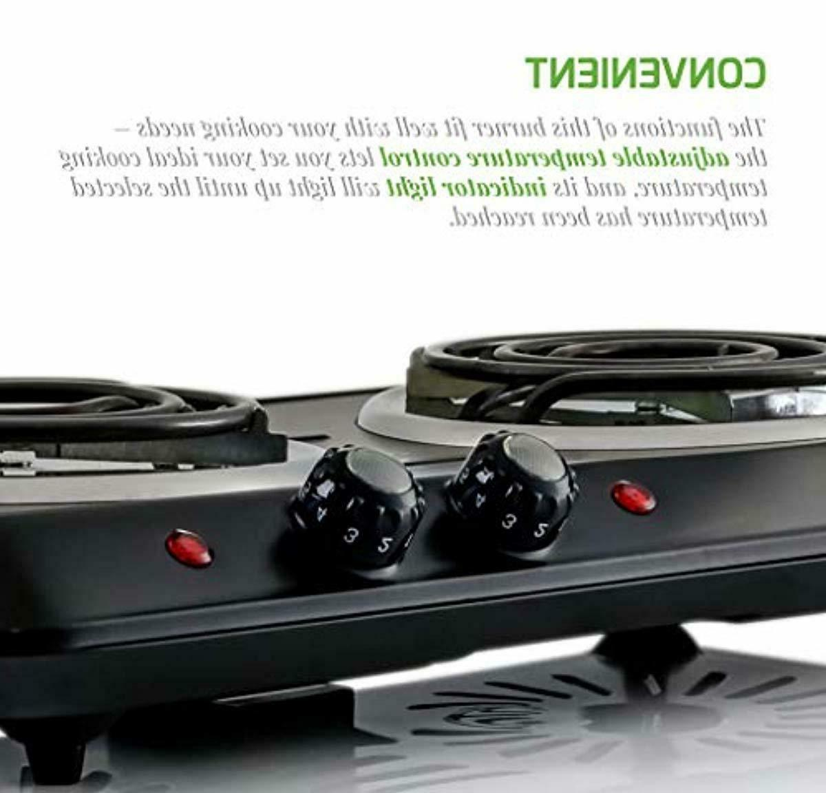 Electric Cooktop Double Hot Plate Two Cooking Stove Portable New