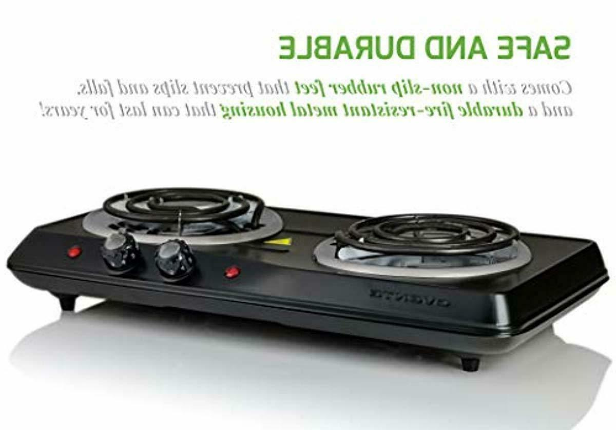 Electric Cooktop Double Hot 2 Cooking Stove New