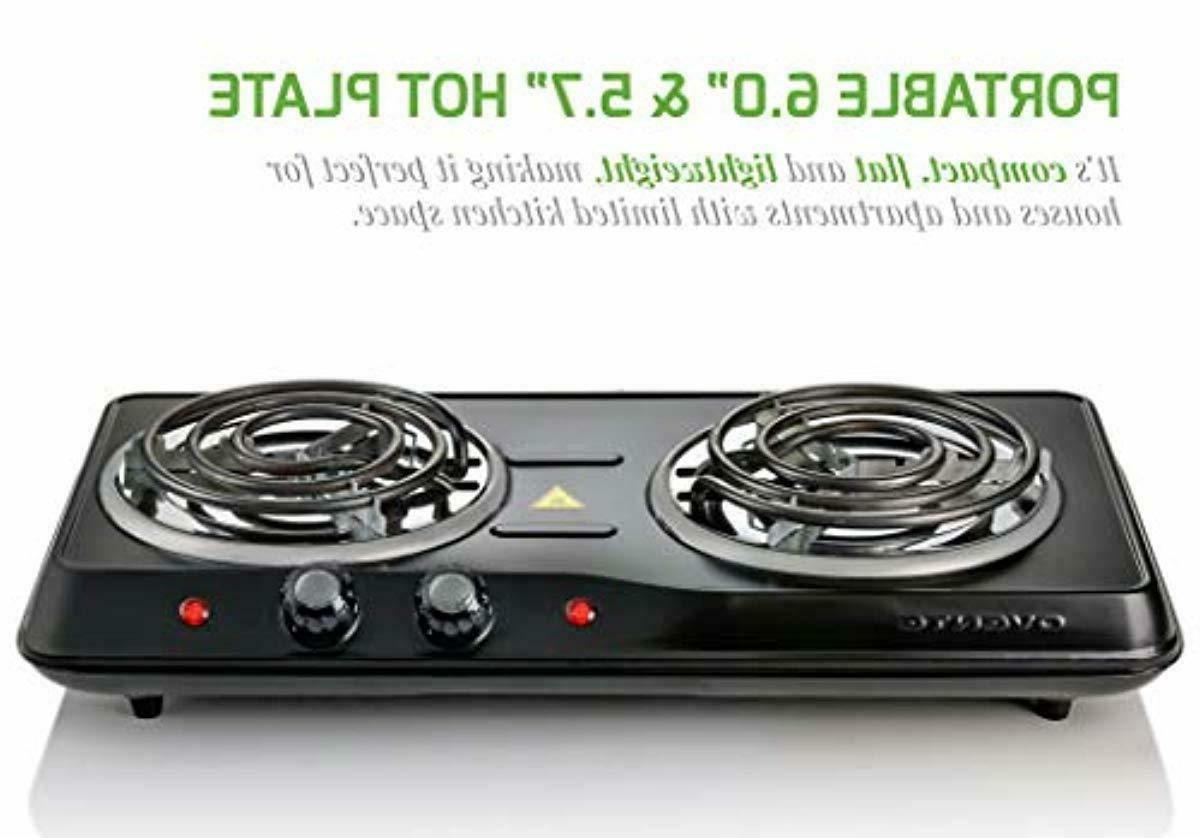 Electric Double Hot Plate 2 Two Cooking New