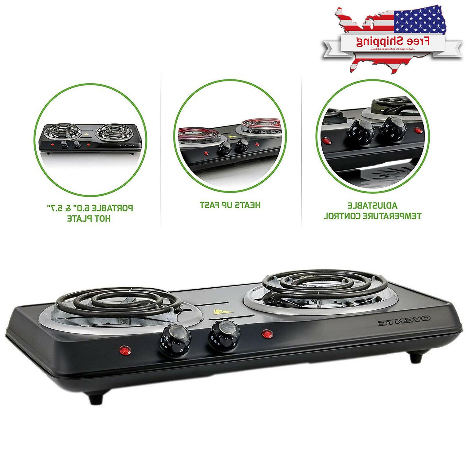 electric cooktop double burner hot plate 2