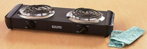 ELECTRIC DOUBLE BURNER Outdoor Cooking
