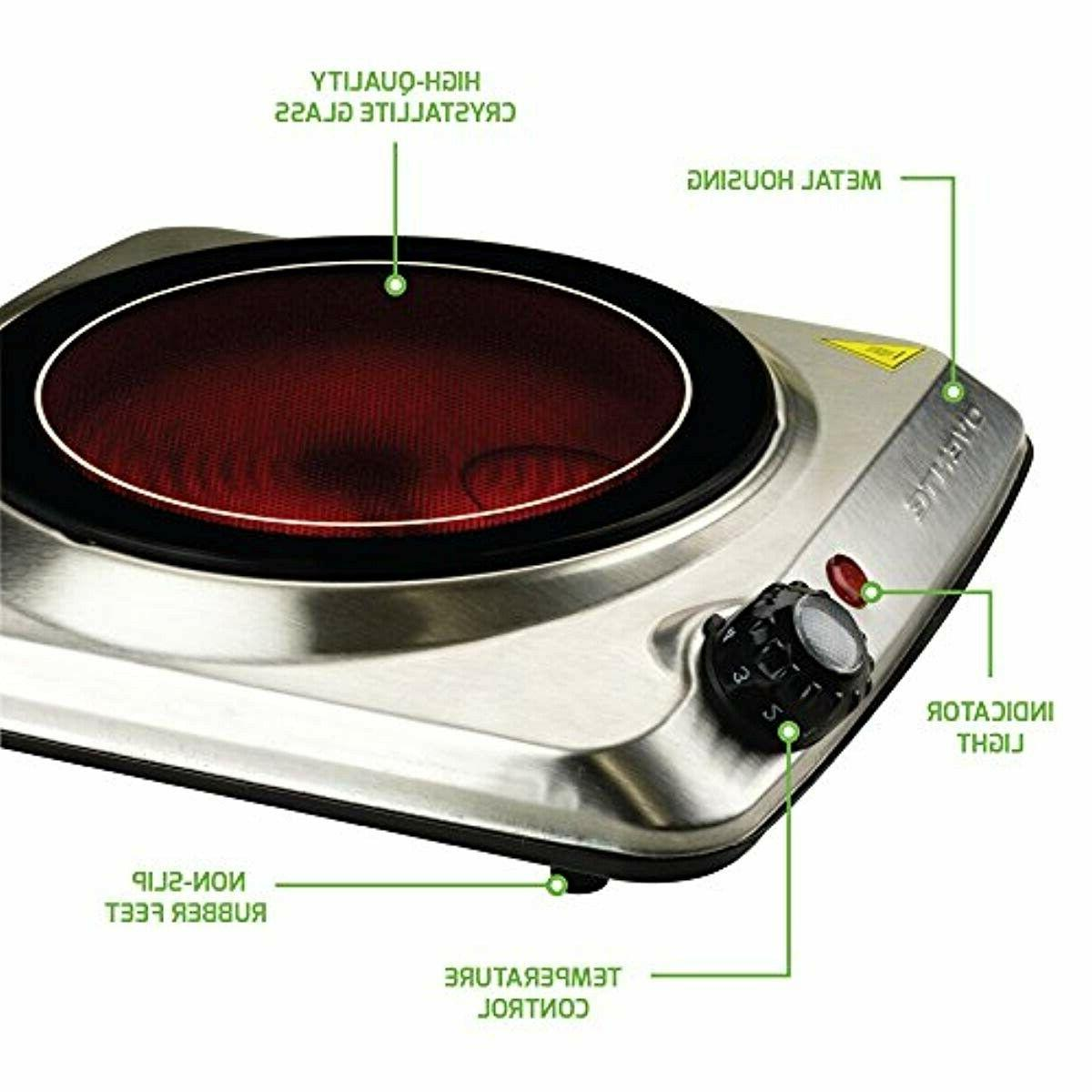 Electric top Glass Plate Cooktop, Stainless Steel
