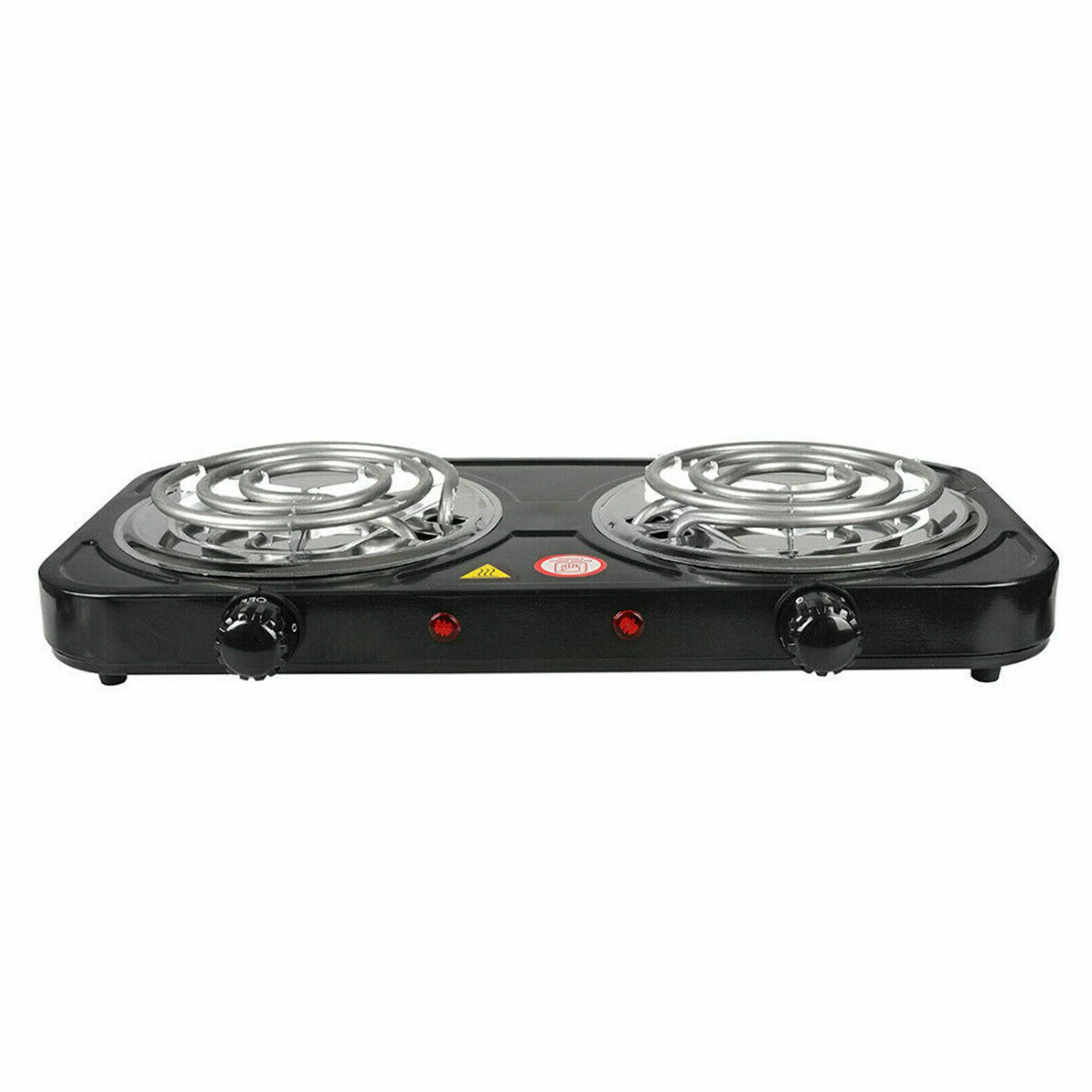 Electric Double Burner 110V 2000W Hot Portable Camping