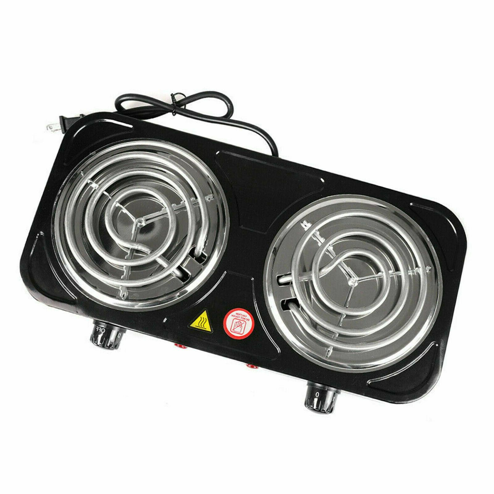 Electric Double Burner 2000W Camping Cooker