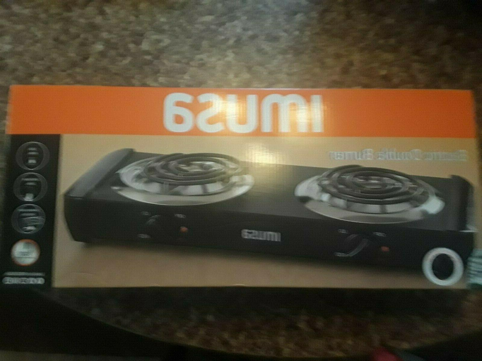 Imusa Burner 1500 Watts Cool touch sides, drip