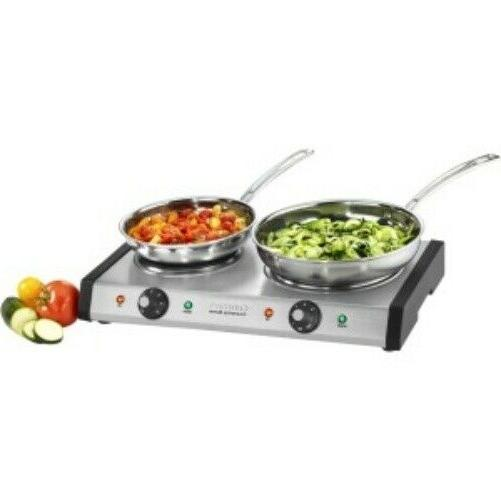 Electric Double Burner Thermostat Hot Plates