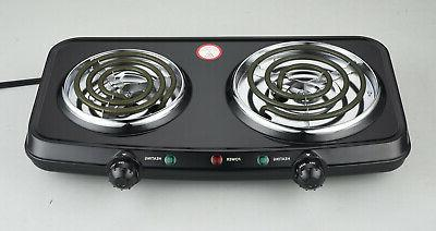 Electric Double Burner Hotplates Heating Plates Portable Camping