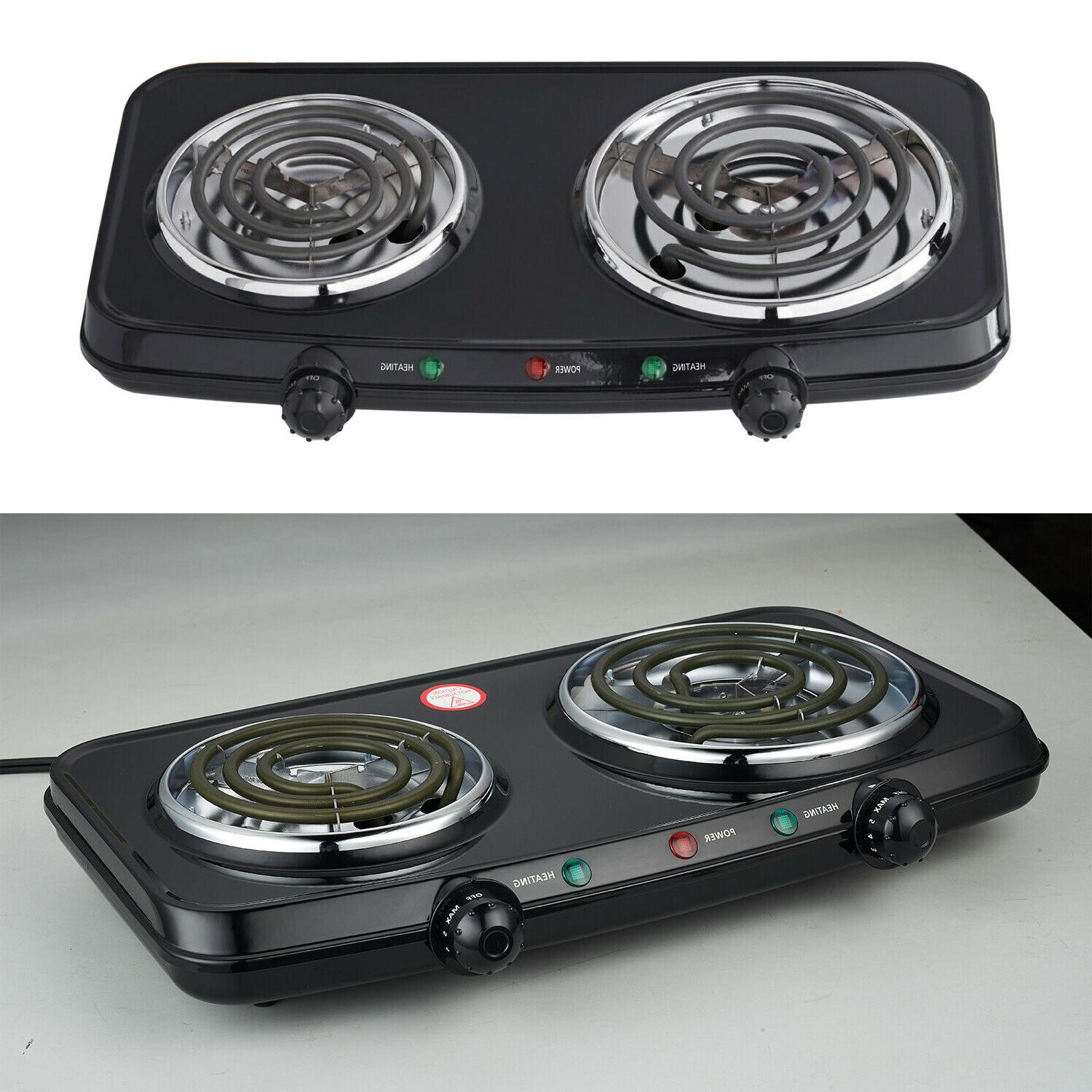 Electric Double Burner Hotplates Heating Plates Portable Cam