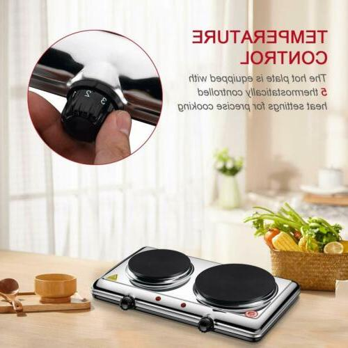 Portable Double Hot Plate Cooker Kitchen Cooktop