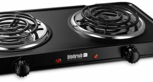 Electric Double Burner Stainless Steel 1000W 700W New