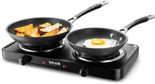 Electric Double Portable Stainless Steel / 700W Hot Plate New