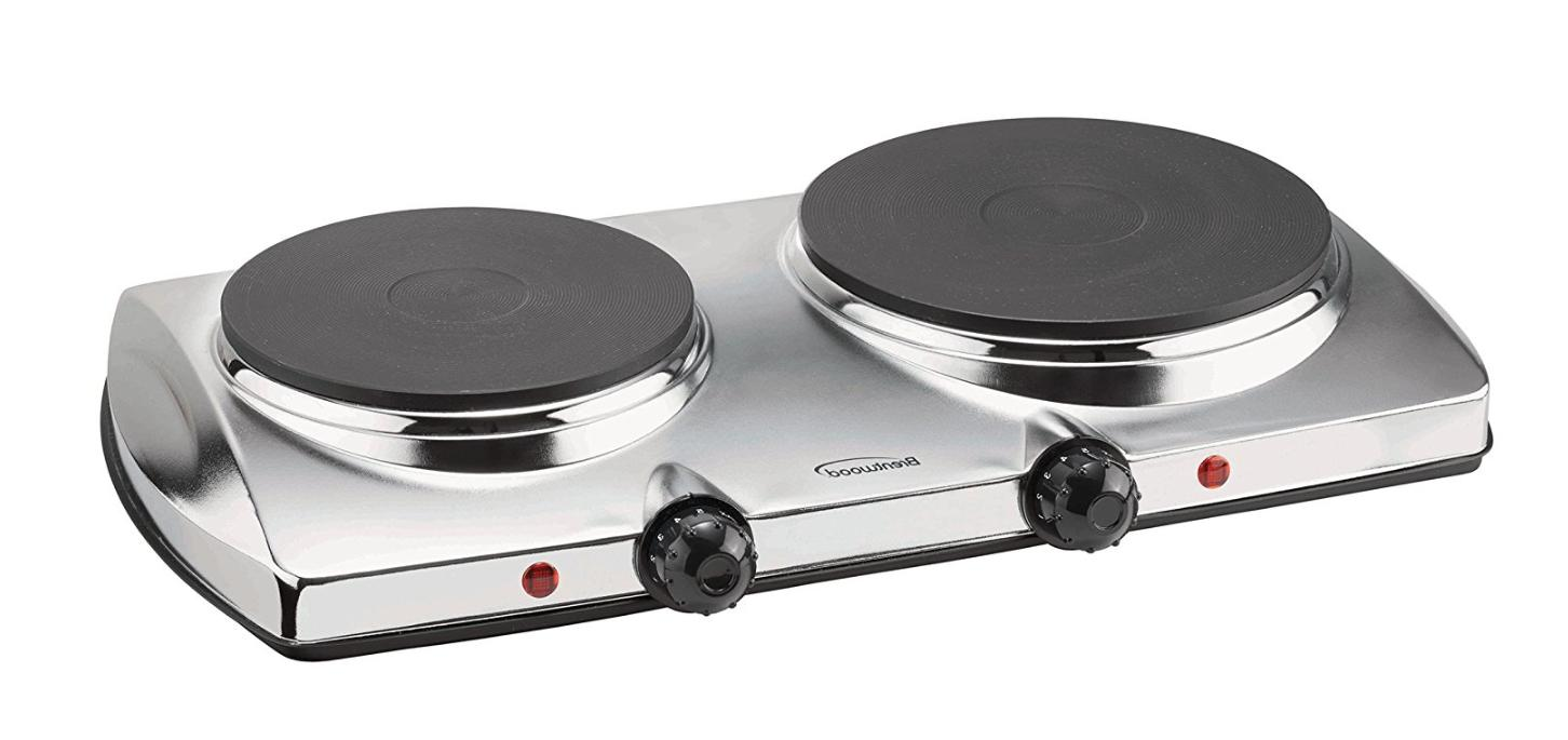 Electric Double Hot Plate Burner 2 Two Cooking Stove Exellen