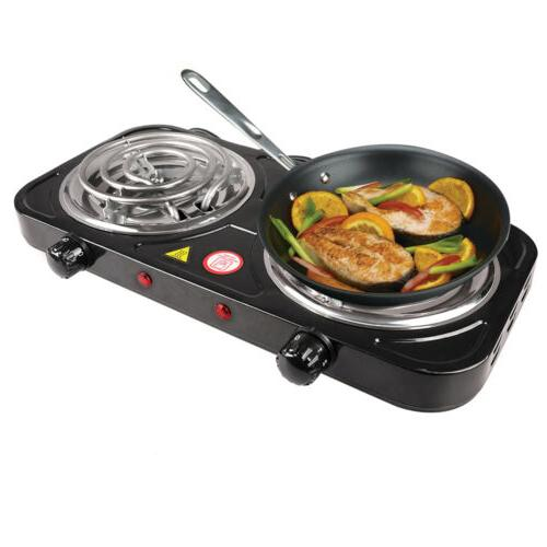 Portable Electric Double / Single Burner Stove Travel