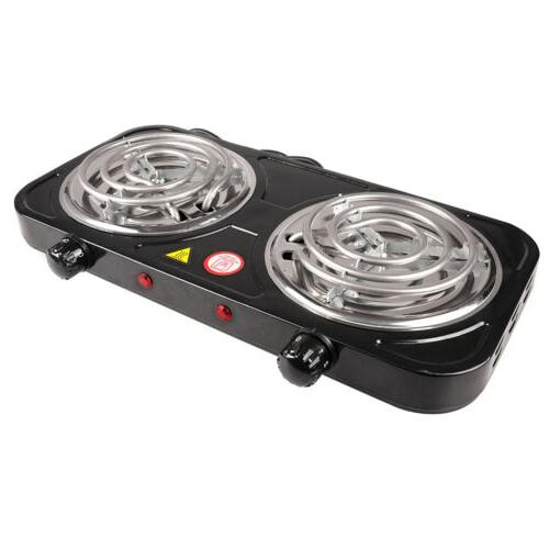 Portable Double Single Burner Hot Plate Stove Cook Countertop