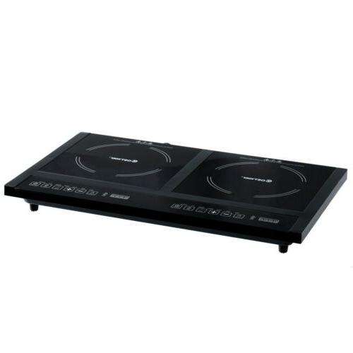 Electric Dual Cooker Stove Hot Plate Cooktop 8 Timer