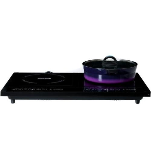 Electric Dual Stove Plate Cooktop 8 W/ Timer