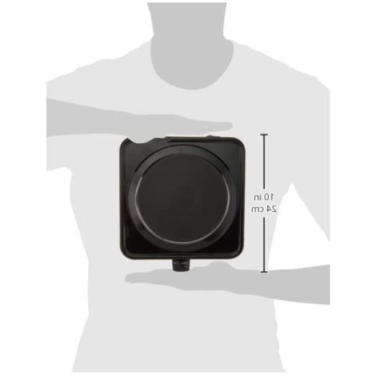 Electric for Cooking Portable 1000W Cook Stove, Black