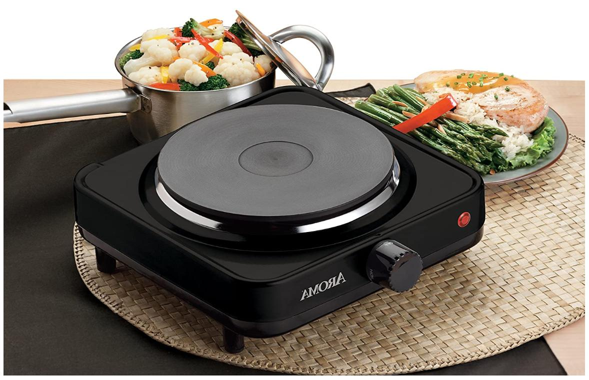Electric Cooking 1000W Cook Stove, Black