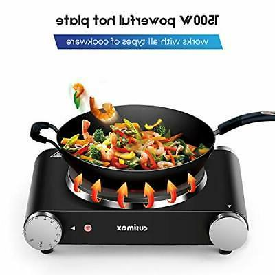 Cusimax Electric Portable Stove, Countertop Burner, 1500W