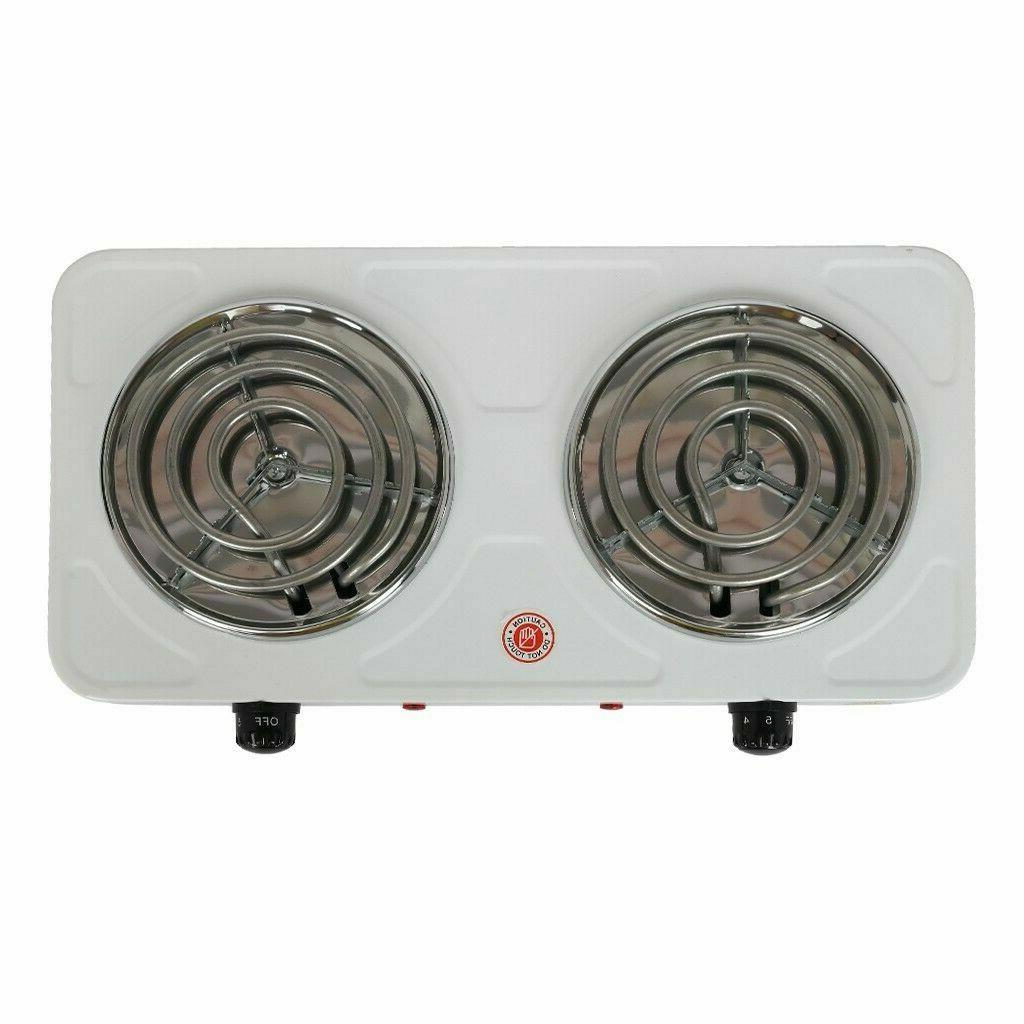 Electric Plate Stove Countertop Double