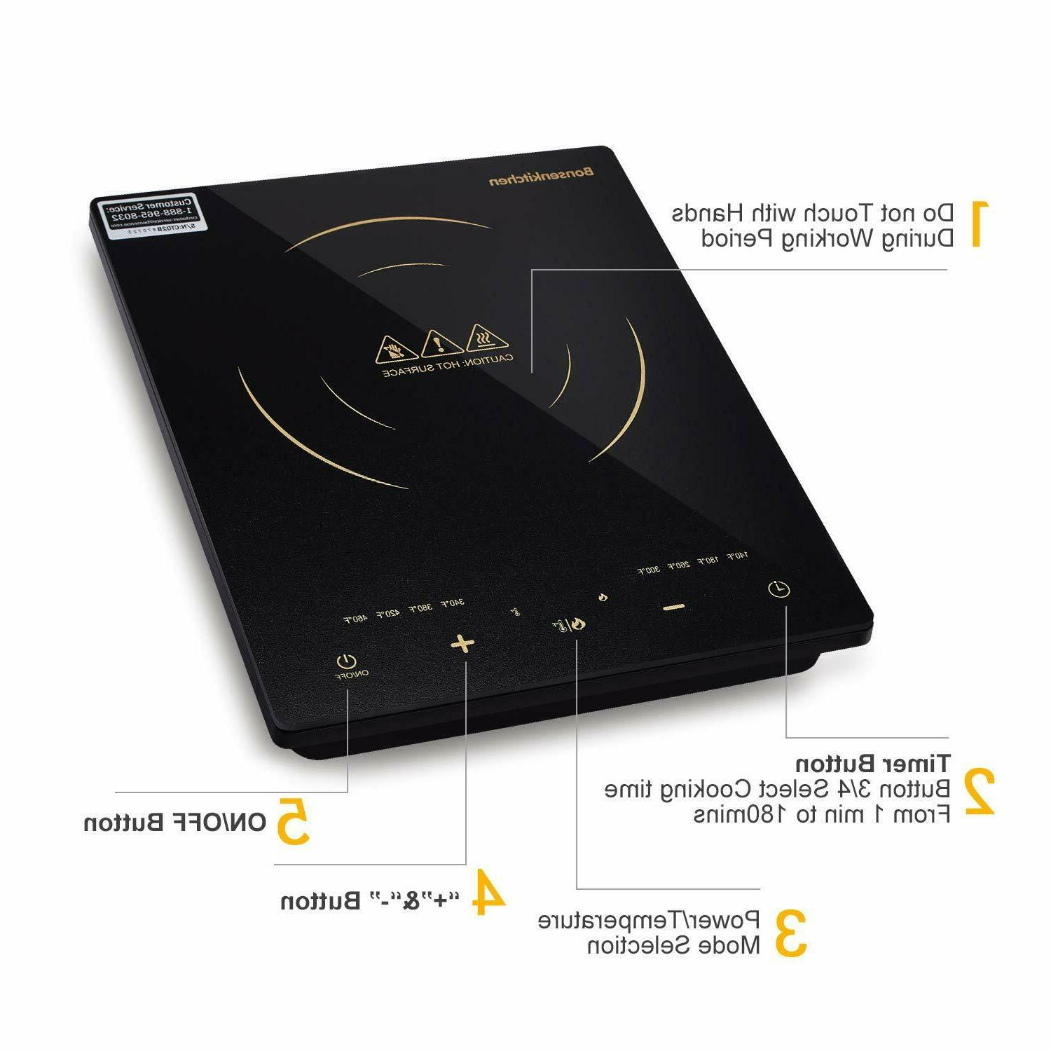 Electric Induction Cooker Portable Burner Plate