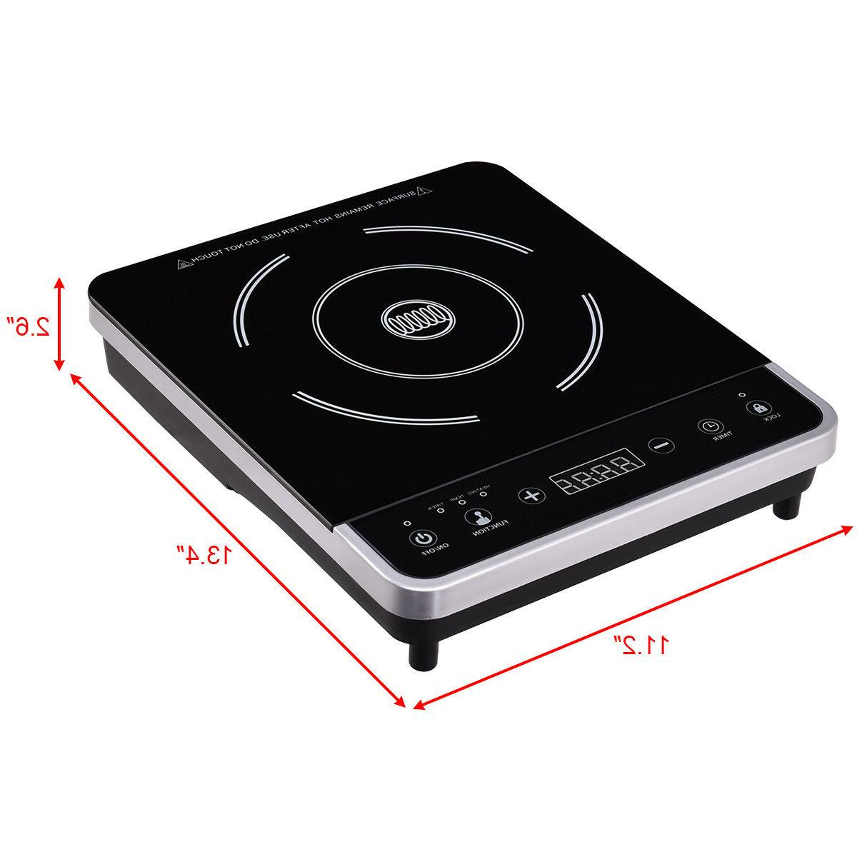 Electric Induction Single Burner Digital Cooktop