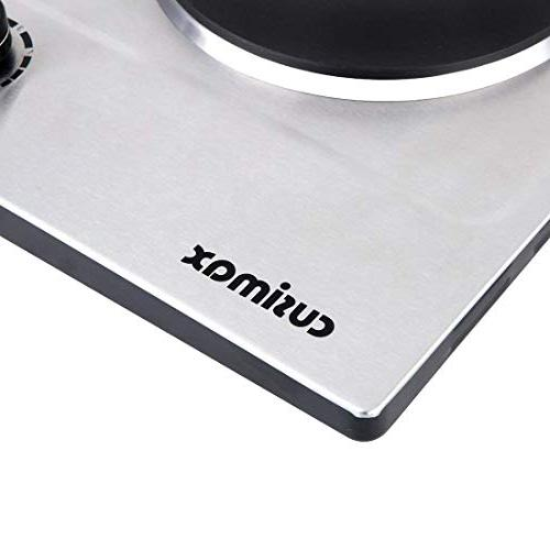 Cusimax Electric Plate, Portable Countertop Stainless Steel Single Burner, CMHP-C150