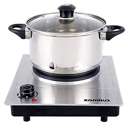 Cusimax Plate, Portable Burner, Stainless CMHP-C150