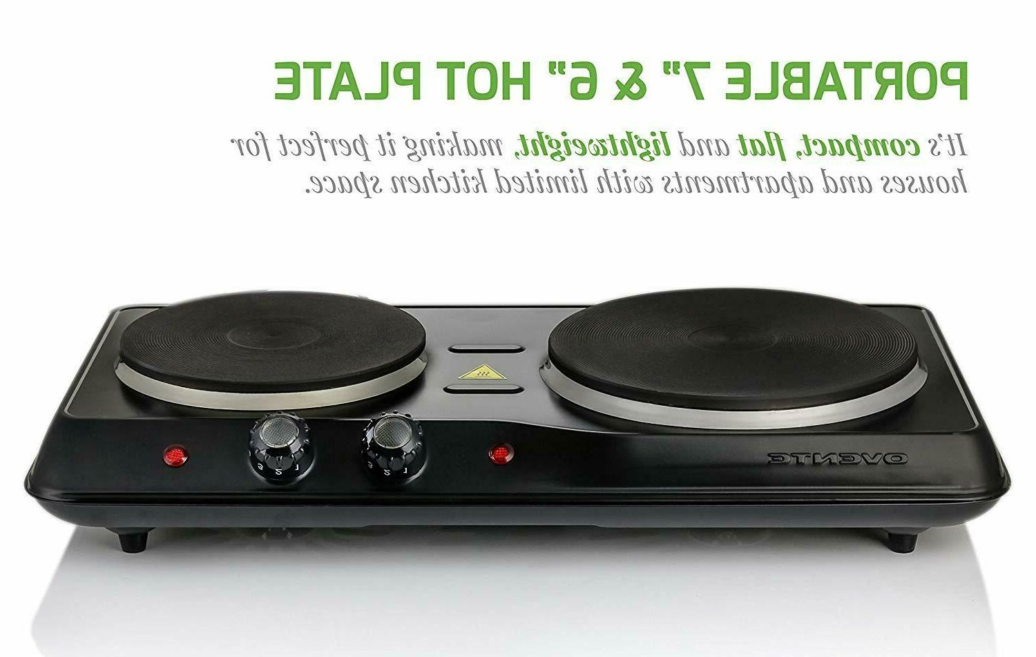 Electric Cooktop Double Stove Plate Burner NEW