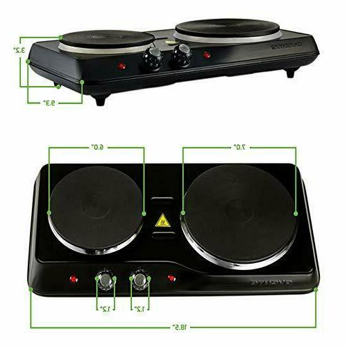 Electric Ceramic Glass 2 Cooking Stove US