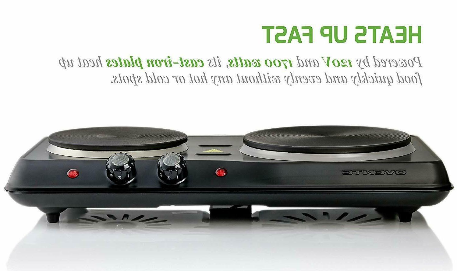 Electric Portable Cooktop Stove Hot Dual Burner Compact NEW