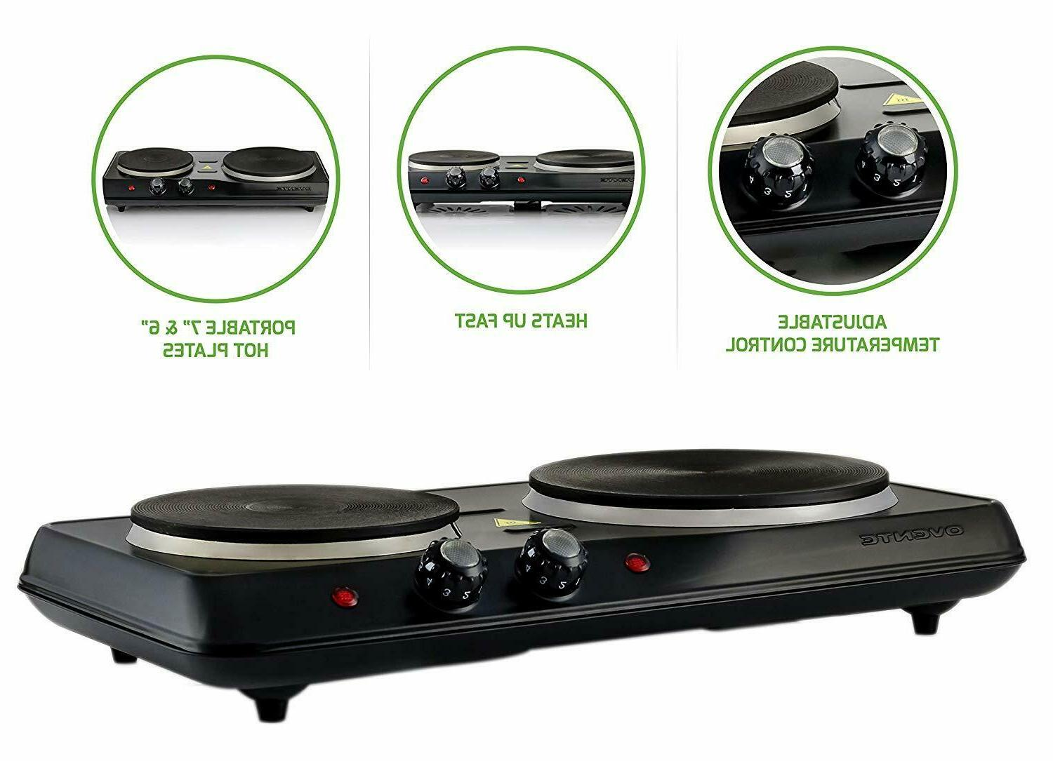 Electric Cooktop Ceramic Glass Hot 2 Two US