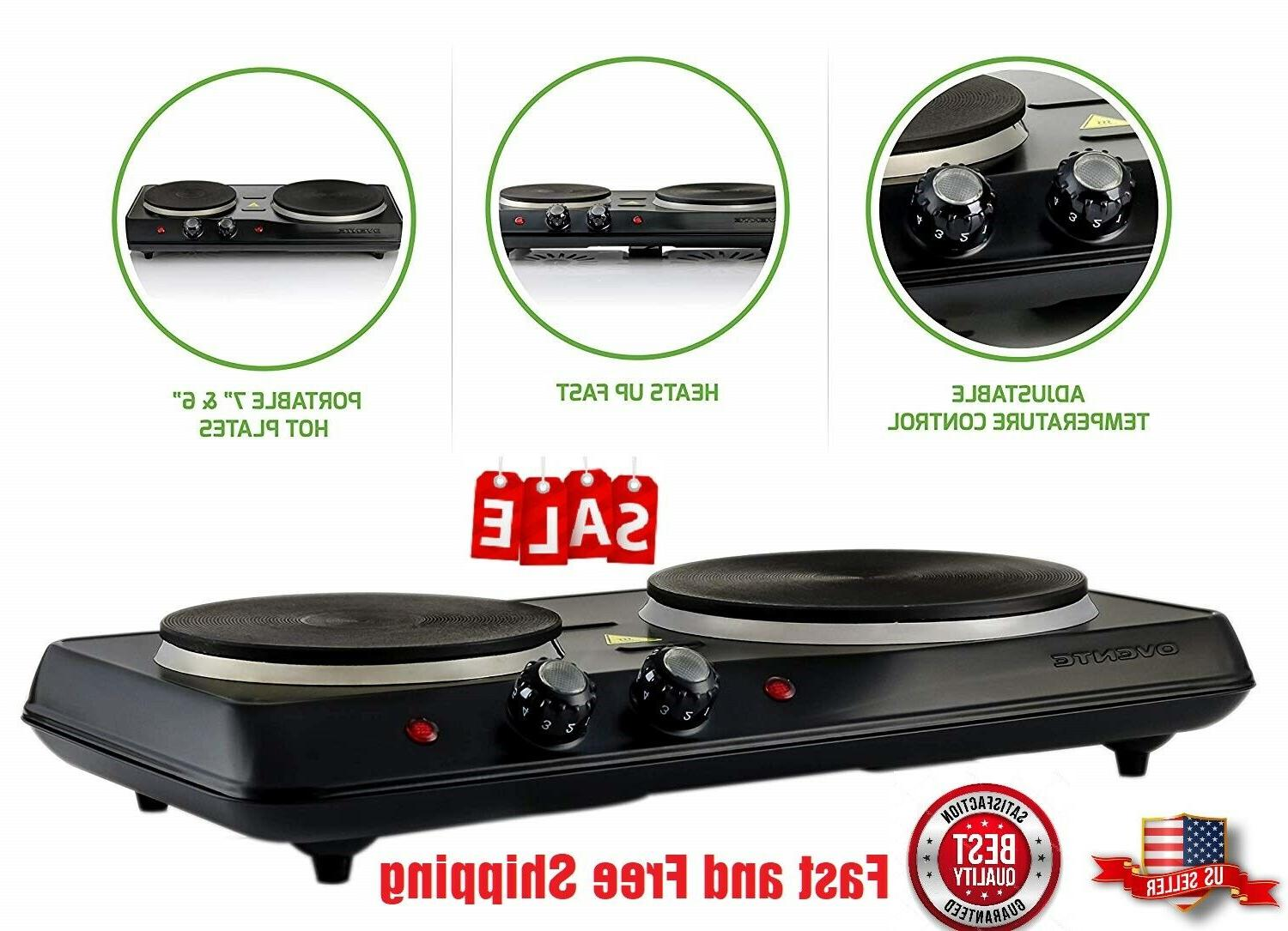 electric portable cooktop double stove hot plate