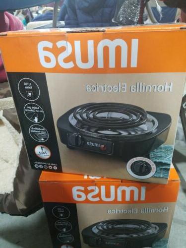 electric single burner portable hot plate stove